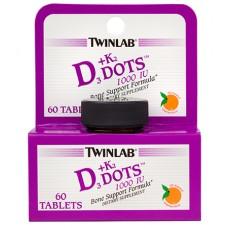 Twinlab Vitamin D 3 +K2  dots 60 tableta